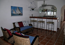 Secret Beach Boat Villa Playa del Carmen Vacation Home; the bar is steps from the patio and has plenty of room to mix-up a margarita or two.