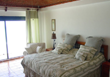 Secret Beach Boat Villa Playa del Carmen Vacation Home; the 1st Master Bedroom has a balcony that overlooks the Caribbean.