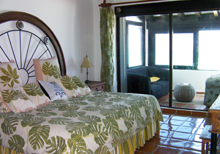 Secret Beach Boat Villa Playa del Carmen Vacation Home; 2nd Master Bedroom has a balcony that overlooks the Caribbean.