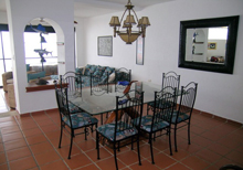 Secret Beach Fish Villa Playa del Carmen Vacation Home; the Great Room  has full wall to wall glass sliding doors with a view of Caribbean, makes you feel even if your inside that you are still outside right on the beach.