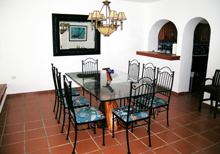 Secret Beach Fish Villa Playa del Carmen Vacation Home; there is also a dining table in the patio area if you want to eat outside.