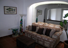 Secret Beach Fish Villa Playa del Carmen Vacation Home; the Den Area upstairs a nice spot to getaway by yourself it also has a Cupula Ceiling.