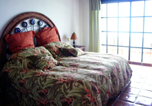 Secret Beach Shell Villa Playa del Carmen Vacation Home; 2nd Master Bedroom has a balcony that overlooks the Caribbean.