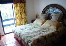 Secret Beach Shell Villa Playa del Carmen Vacation Home; 3rd Bedroom has a balcony that overlooks the garden.
