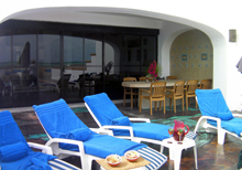 Secret Beach Villas Playa del Carmen Vacation Home in Playa del Secreto; the double wide floor to ceiling sliding door makes the patio pool area a huge extension of the villa everything is just steps away.